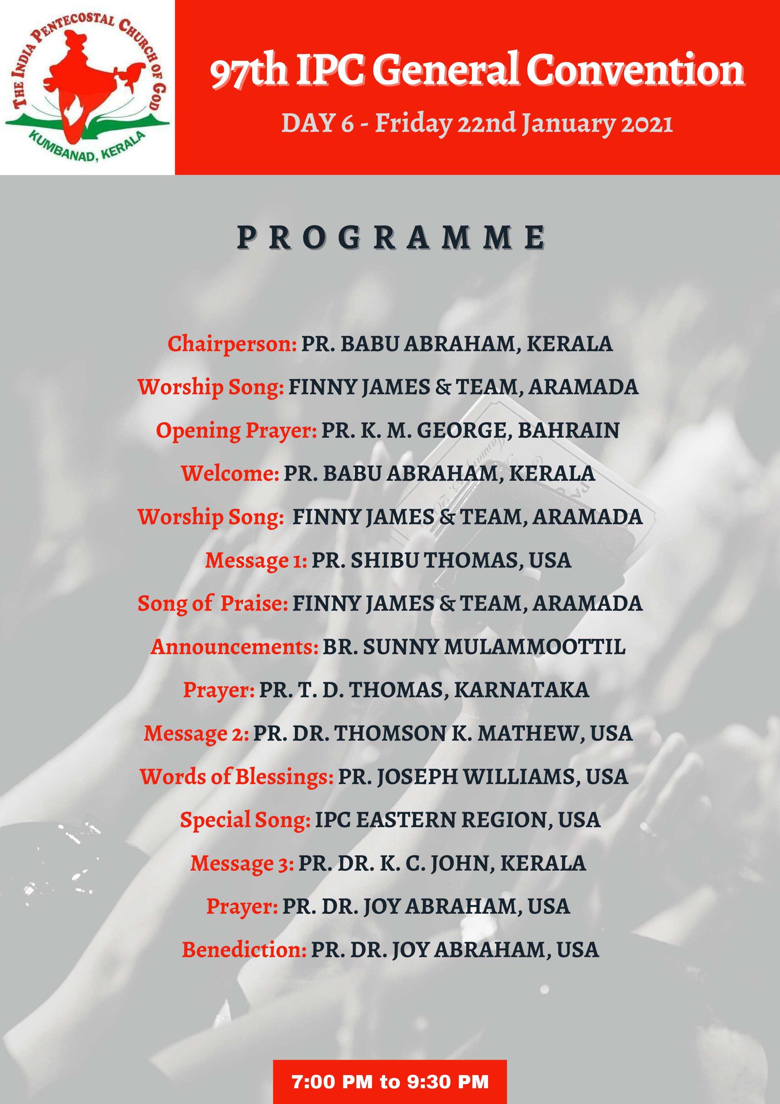 IPC-General-Convention-Day-6-Program